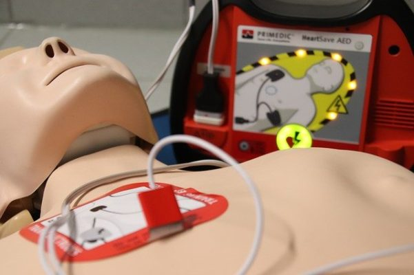 first aid doll with aed leads